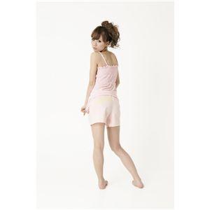 シャーリングキャミ&Sパンツ ピンク
