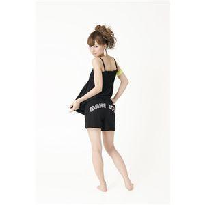 シャーリングキャミ&Sパンツ 黒