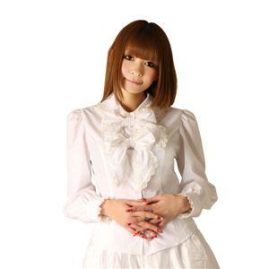 Cream doll ブラウス 2連リボン(ホワイト)