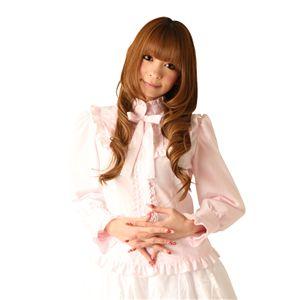 Cream doll ブラウス フリルリボン(ピンク)