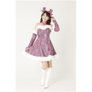 【2010年クリスマスサンタコスプレ】スウィートトナカイ豹柄 ピンク Ladies