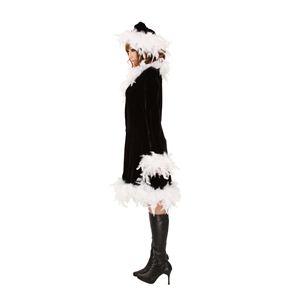 クリスマスコスプレ フェザーブラックドレス Ladies