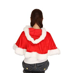 クリスマスコスプレ フード付きケープ 赤 Ladies