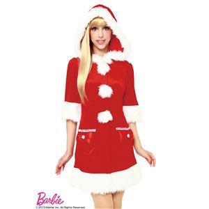 【クリスマスコスプレ】Barbie Christmas フーディーフィットサンタ(レッド)