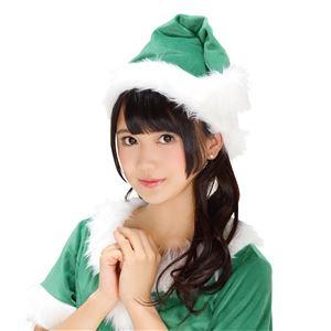 【クリスマスコスプレ 衣装】 サンタ帽子(グリーン)