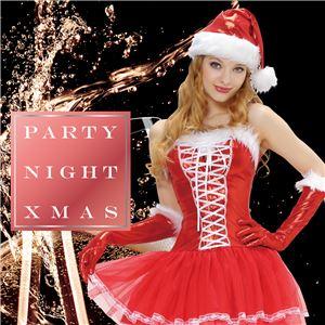【クリスマスコスプレ 衣装】 シャイニーレースアップサンタ