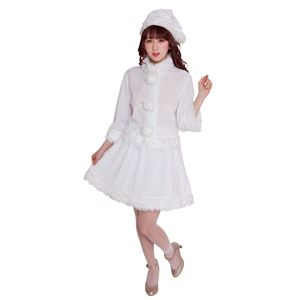【クリスマスコスプレ 衣装】 ベイシックサンタ ホワイト
