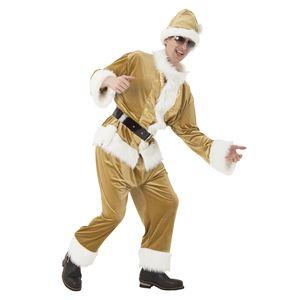 【クリスマスコスプレ 衣装】 マジサンタ ゴールドフラッシュサンタ