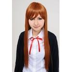 【コスプレ】 【耐熱ウィッグ】ベースストレートロング ビターオレンジ 4560320835592