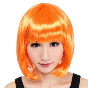 【コスプレ】 セレブパーティー ボブ(オレンジ) 4560320836254