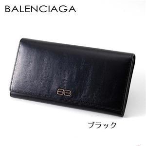 BALENCIAGA レザー長財布 BANA01 ブラック