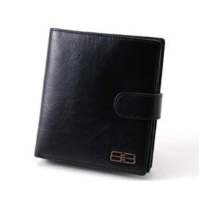 BALENCIAGA レザー2つ折りジップ財布 BANA04 ブラック