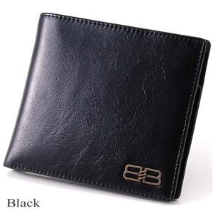 BALENCIAGA レザー2つ折り財布 BANA05 ブラック