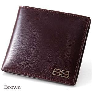 BALENCIAGA レザー2つ折り財布 BANA05 ブラウン