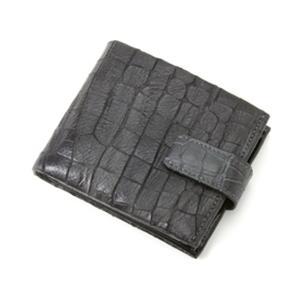 BALENCIAGA(バレンシアガ) クロコ型押 レザー二折財布 BASY02CO BLACK