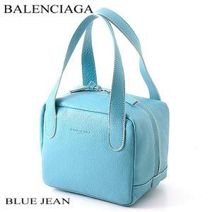 BALENCIAGA(バレンシアガ) キューブバッグ 6770A BLUE JEAN