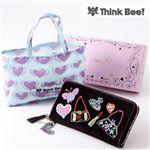 【Think Bee!】Just Heart ブラックポンド ラウンド財布(エコバッグ付)