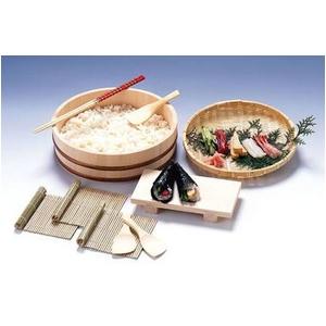 手巻き寿司 パーティーセット(寿司桶、天然竹す・竹すしべら、盛りザル、盛り台、菜箸)