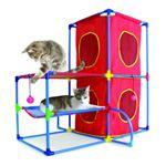 スポーツペット・猫(キャット)タワー キャットランド (キャット)プレイセンター/赤