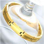 純金IP仕上げチタンゲルマブレス 女性用