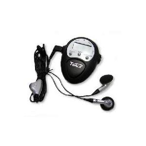 ラジオ付歩数計 T-WALK WE-03BK ブラックの商品画像大