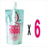 日本ソフケン Qビット Placenta プラセンタ 10000 ゼリー 100mlパック×6本セット