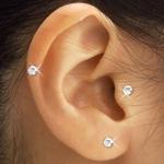 スワロフスキー耳ツボピアス(3色セット)