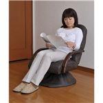 リクライニング回転座敷椅子「ザ・チェア」 ブラウン