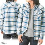 WOOLRICH チェックシャツ&サーマルTシャツ 2枚セット 2W8-8436 ブルー M