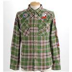 PIPELINE ワッペンシャツ 218-9223 グリーン Lサイズ