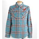 PIPELINE ワッペンシャツ 218-9223 ターコイズ Mサイズ