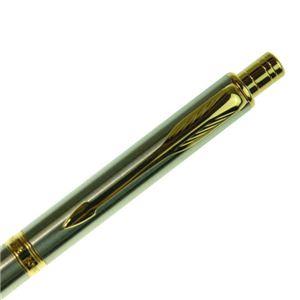PARKER(パーカー) ソネット オリジナル ステンレススチール GT マルチファンクションペン 複合筆記具(ボールペン黒、赤+シャープペン)