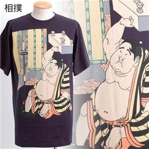 抜染浮世絵Tシャツ 相撲 M