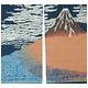 抜染和柄暖簾 赤富士 写真2