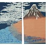 抜染和柄暖簾 赤富士