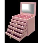 エレガントジュエリーボックス 6段 ピンク