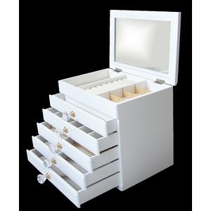 エレガントジュエリーボックス 6段 ホワイト