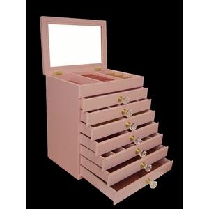 エレガントジュエリーボックス 8段 ピンク