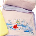 ムーミンのブランケット(収納袋つき) ミムラ・ピンク