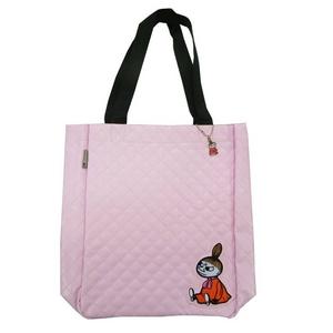 ムーミントートバッグ(キルト) ピンク