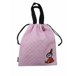 ムーミン巾着型バッグ(大/キルト) ピンク