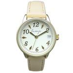 便利な日付付き 腕時計【2本セット】【ベージュ】U04013 A-1の詳細ページへ