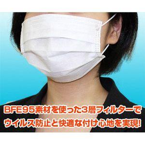 3層式メディカルマスク ブロックプラス 50枚入×4 計200枚セット(色おまかせ)
