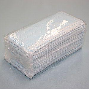 3層式サージカルマスク ブロックプラス ブルー 100枚セット(簡易パッケージ包装)