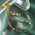 純金ペタルチェーンネックレスの詳細ページへ