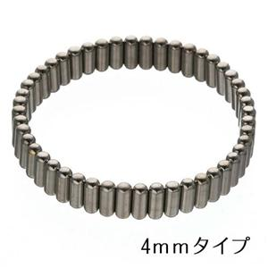 過去最高磁力 チタンコーティングブレス シルバー 4mm幅