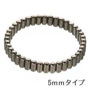 過去最高磁力 チタンコーティングブレス シルバー 5mm幅