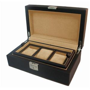REVOLVERレザーBOX 3本用 CL-3 BK