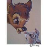 ディズニーアートポスター バンビ と とんすけ