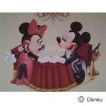 ディズニーアートポスター ミッキーとミニーに乾杯